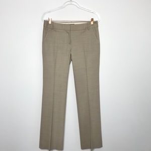 J. Crew Collection Wool Blend Trouser Pants Beige